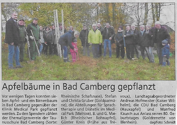 Apfelbäume in Bad Camberg gepflanzt